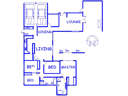 Floor plan of the property in Welgelegen