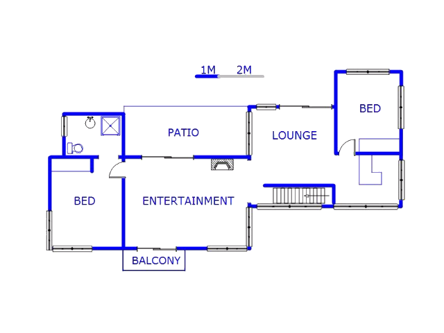 Floor plan of the property in Florida Glen