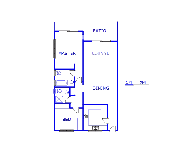 Floor plan of the property in Hyde Park