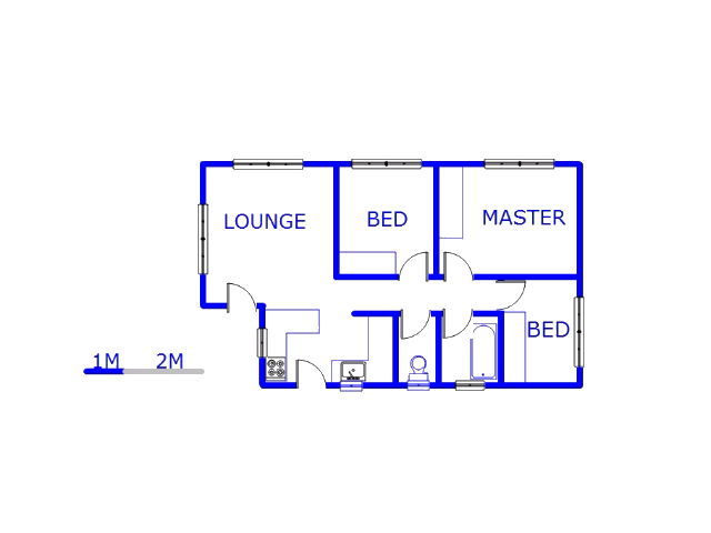 Floor plan of the property in Soweto