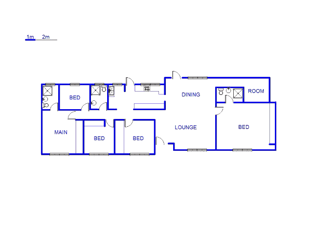 Floor plan of the property in Rustivia