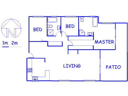Floor plan of the property in Umdloti