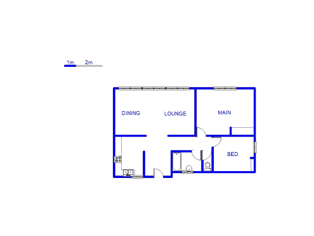 Floor plan of the property in Sunnyridge