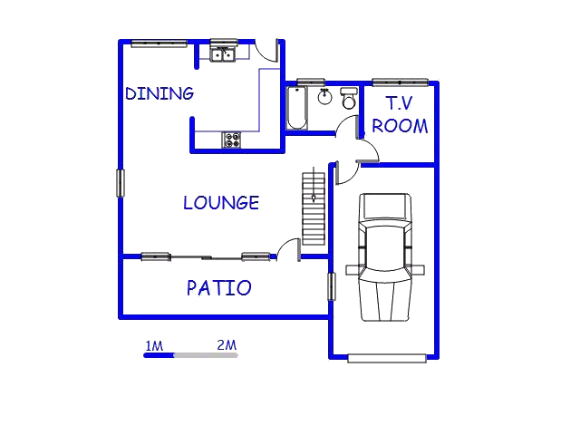 Floor plan of the property in Escombe