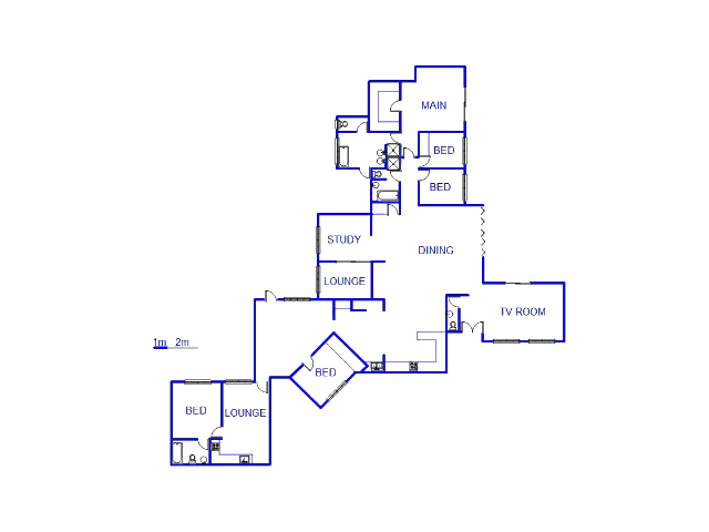 Floor plan of the property in Kloofendal