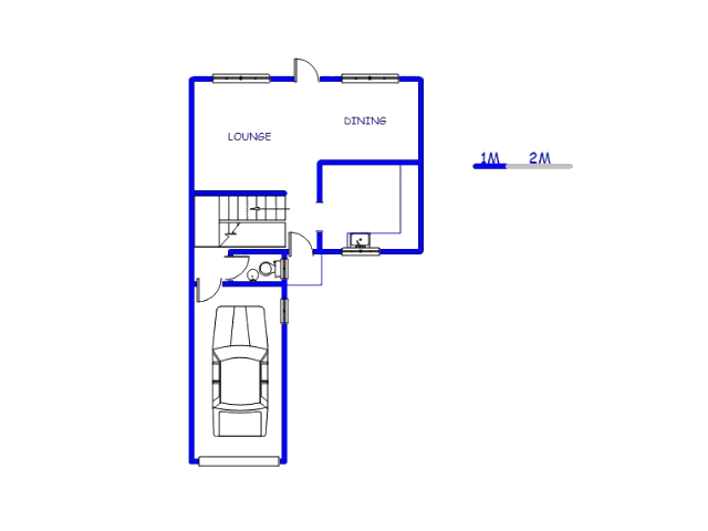 Floor plan of the property in King Williams Town
