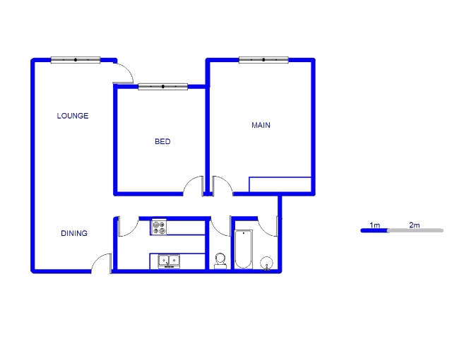 Floor plan of the property in Bellevue