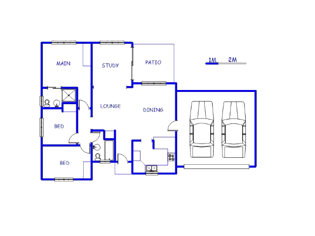 Floor plan of the property in Craigavon A.H.