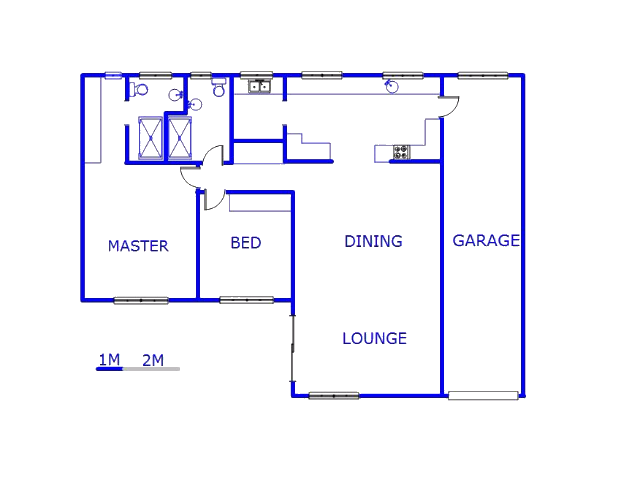 Floor plan of the property in Rynfield