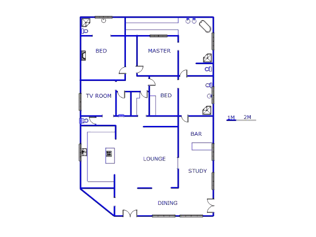 Floor plan of the property in Unitas Park