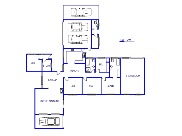 Floor plan of the property in Wolmaransstad
