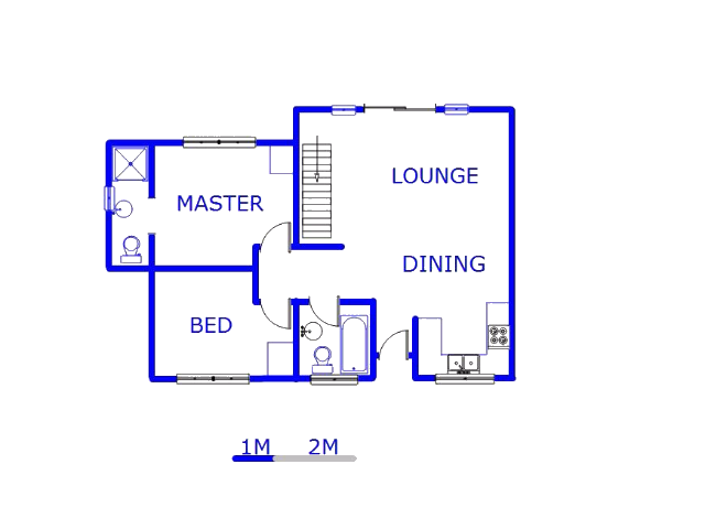 Floor plan of the property in Wychwood