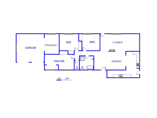 Floor plan of the property in Valley Settlement