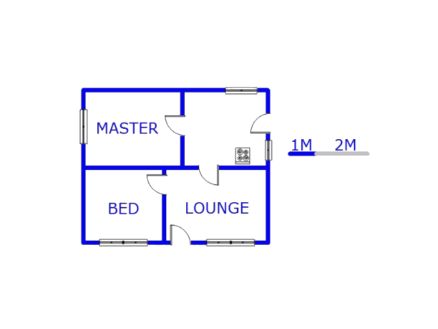 Floor plan of the property in Mohlakeng