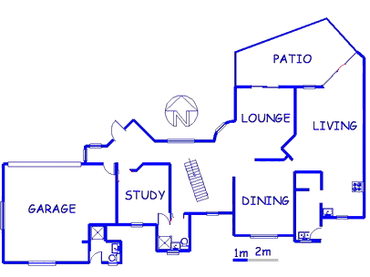 Floor plan of the property in Midrand Estates