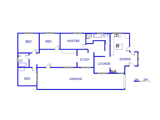 Floor plan of the property in Ennerdale
