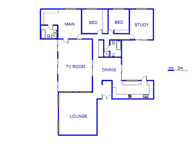 Floor plan of the property in Sandown