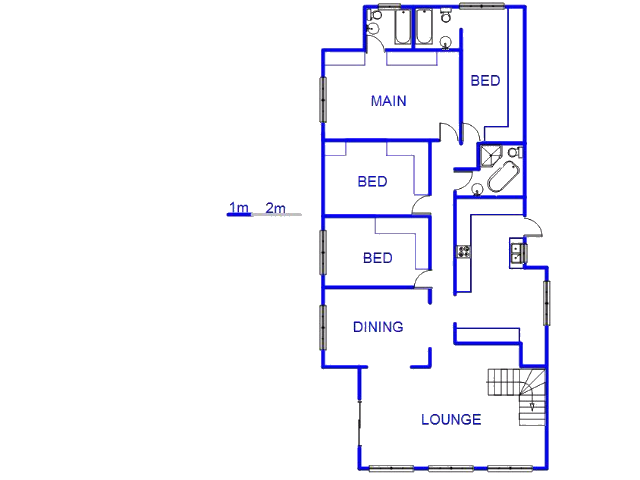 Floor plan of the property in Fordsburg