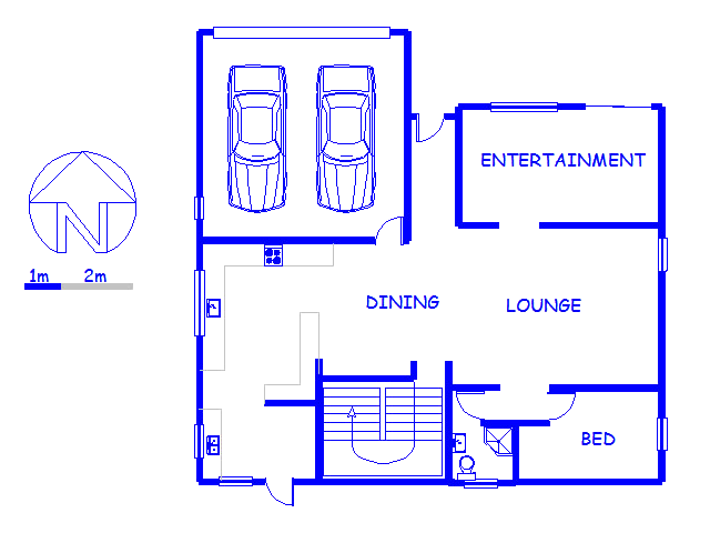 Floor plan of the property in Melkbosstrand