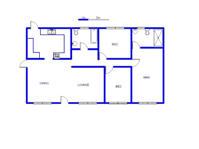 Floor plan of the property in Welgedacht