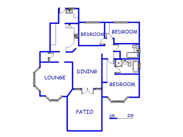 Floor plan of the property in Westville