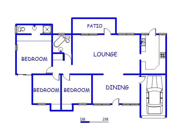 Floor plan of the property in Pinetown
