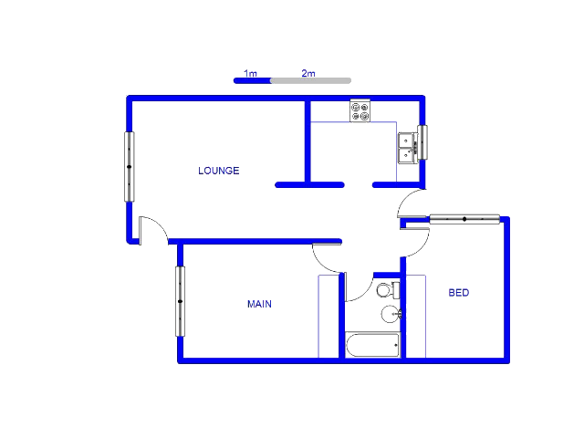 Floor plan of the property in Bezuidenhout Valley