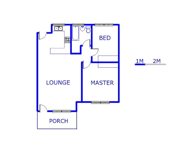 Floor plan of the property in Meyersdal