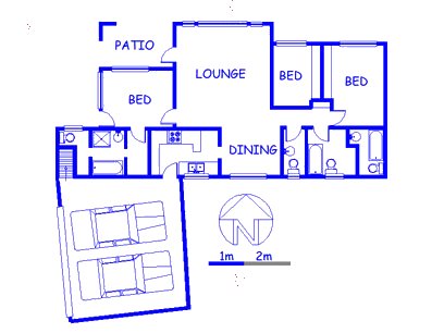 Floor plan of the property in Glenmarais
