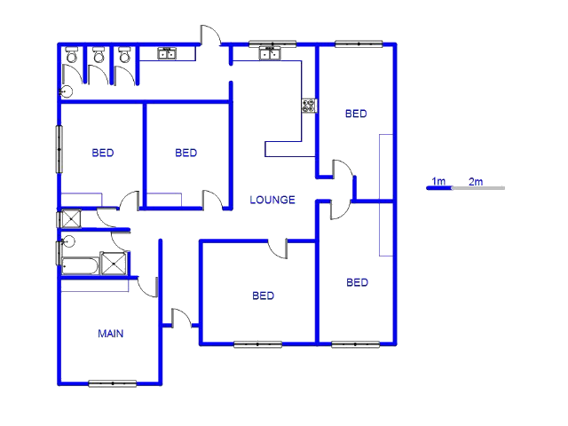 Floor plan of the property in Hurst Hill