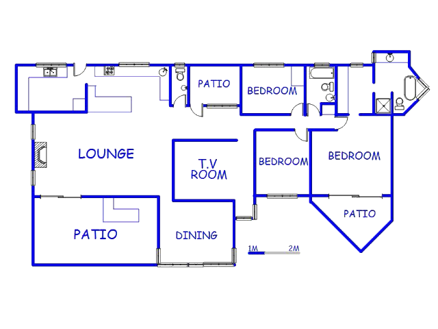 Floor plan of the property in Winston Park