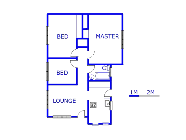 Floor plan of the property in Daveyton