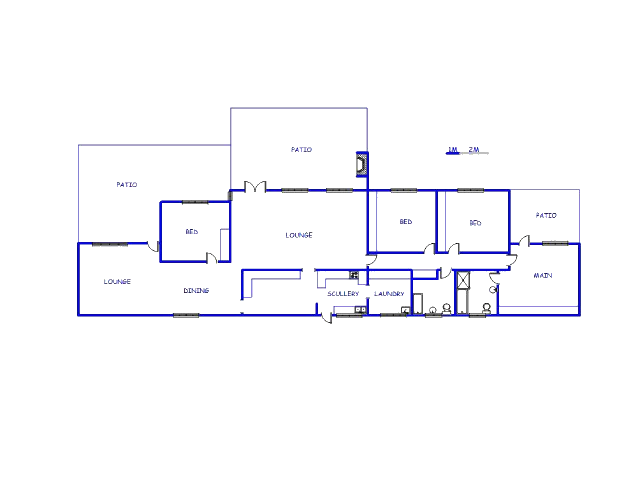 Floor plan of the property in Baillie Park