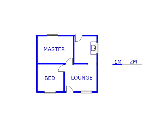 Floor plan of the property in Mofolo North