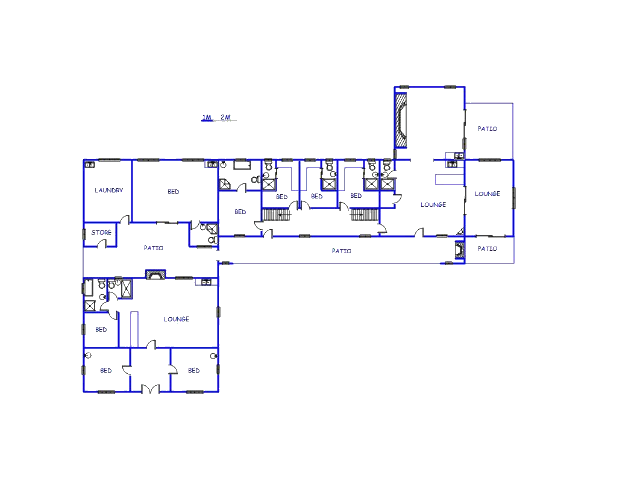Floor plan of the property in Yzerfontein