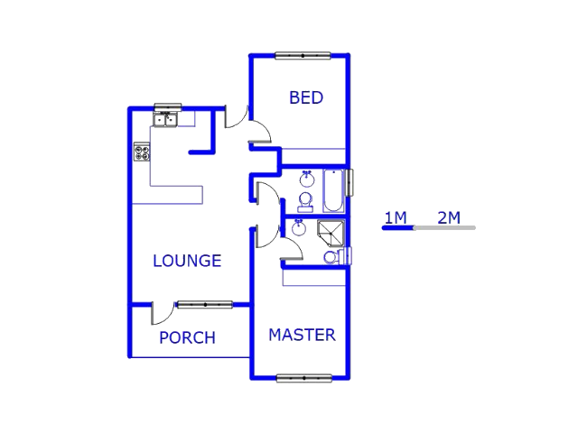 Floor plan of the property in Honeydew