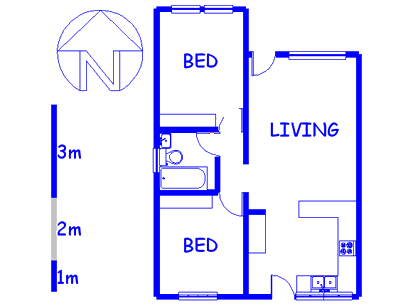 Floor plan of the property in Oak Glen