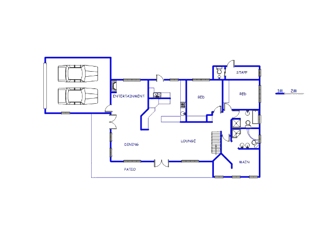 Floor plan of the property in Oudtshoorn