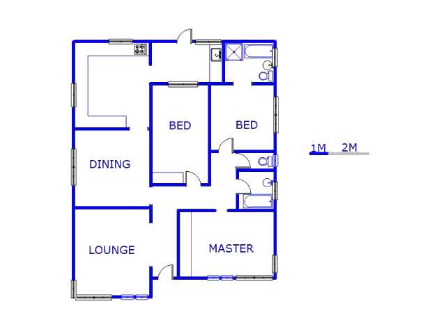 Floor plan of the property in Three Rivers