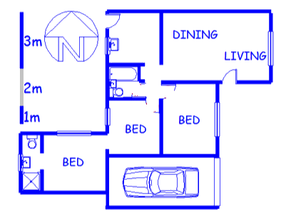 Floor plan of the property in Retreat
