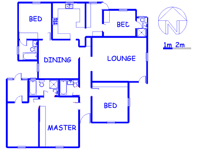 Floor plan of the property in Melville