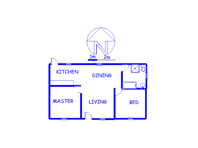 Floor plan of the property in Wakkerstroom