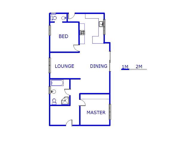 Floor plan of the property in Martindale