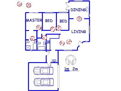 Floor plan of the property in Amandasig