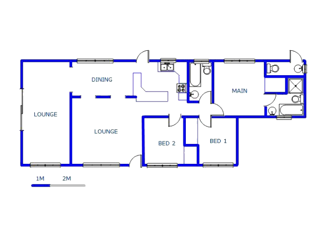 Floor plan of the property in Sharon Park