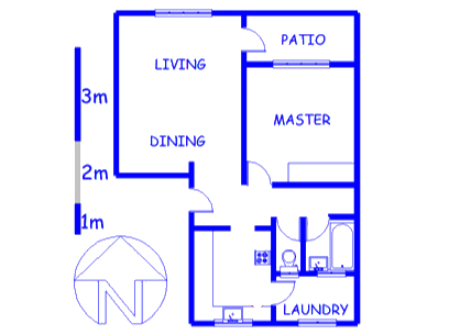 Floor plan of the property in Oostersee
