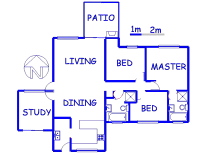 Floor plan of the property in Eco-Park Estate