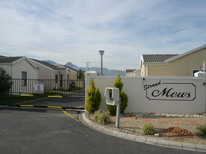 Standard Bank Repossessed 2 Bedroom Cluster for Sale For Sale in Strand - MR23455