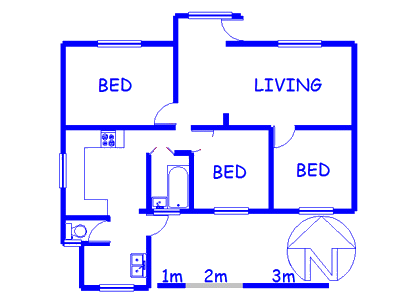 Floor plan of the property in Ruyterwacht