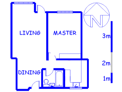 Floor plan of the property in Rosebank - CPT